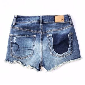 American Eagle Outfitters Shorts - AEO Hi Rise Patchwork Denim Shorts